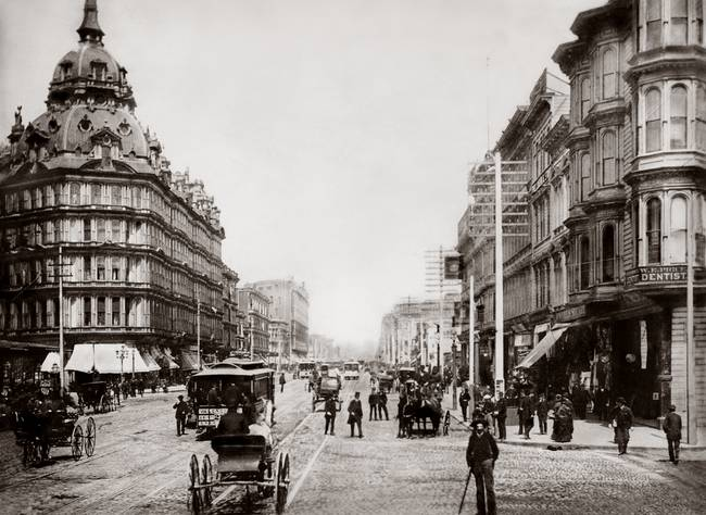 Market and 5th, Baldwin Hotel c1890
