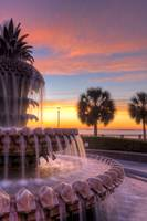 Pineapple Fountain Charleston Waterfront Park Sunr