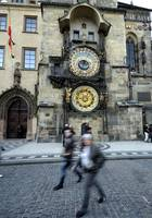 The astronomical clock in Prague, old town square.