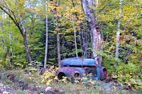 end of the road for an old truck in Vermont