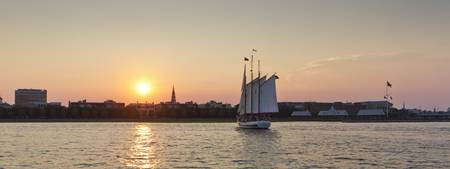 Charleston Sailing Sunset