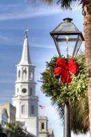 Holiday Wreath St Michaels Church Charleston SC
