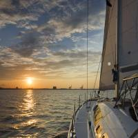 """Sailing Sunset Charleston Harbor SC"" by DustinKRyan"