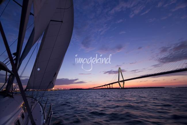 Sailing Sunset Cooper River Bridge Charleston SC