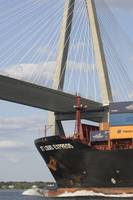 Container Ship St Louis Express Cooper River Bridg