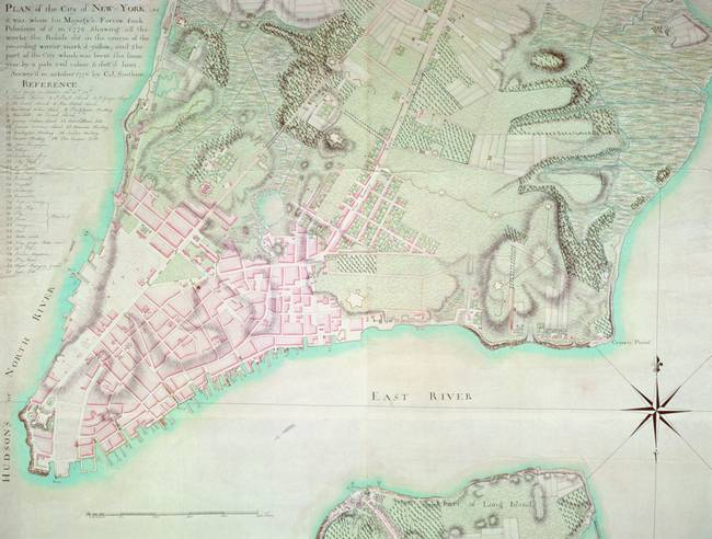 Plan of New York, 1776 )engraving(