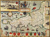 Map of Cornwall, 1627