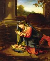 Our Lady Worshipping the Child