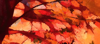 Autumn Panorama Abstract