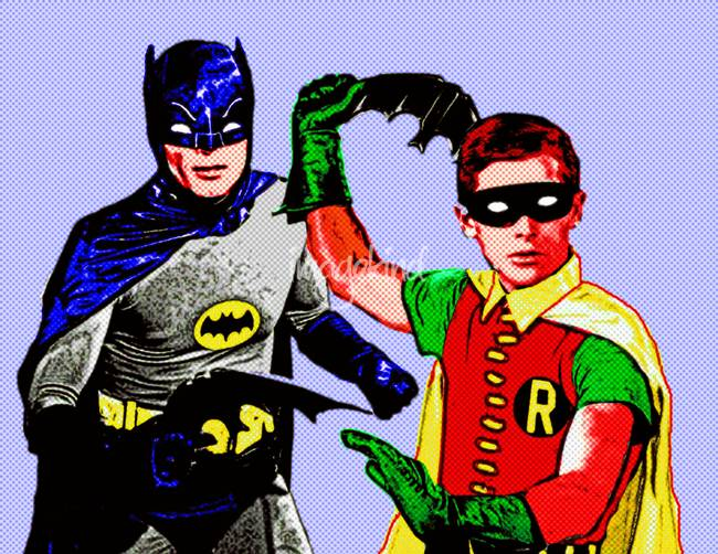 """Batman and Robin - Batarang Practice"""