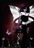 Gothic Butterfly Girl