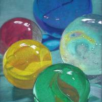 Five Marbles Art Prints & Posters by Janet Pantry
