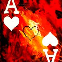 """ABSTRACT GALAXY ACES POKER ART OF HEARTS"" by teofaith"