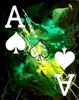 ABSTRACT GALAXY ACES POKER ART OF SPADES