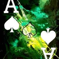 """ABSTRACT GALAXY ACES POKER ART OF SPADES"" by teofaith"