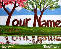 PERSONALIZED OR CUSTOMIZED SCENIC NAME ART PAINTIN