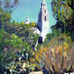 """Cactus Garden California Tower in Balboa Park"" by RDRiccoboni"