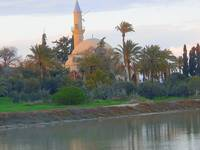 Hala Sultan Tekke and Larnaca's saltlake in Cyprus