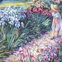 Pathway Flowers Art Prints & Posters by Marie Witte