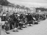 Tibet - Locals praying before the Potala