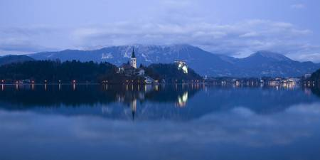 Dusk over Lake Bled