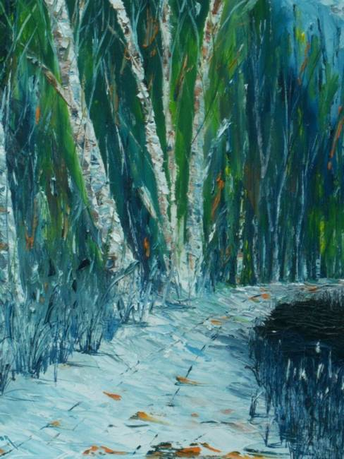 Stunning Snowy Woods Painting Reproductions For Sale On Fine Art