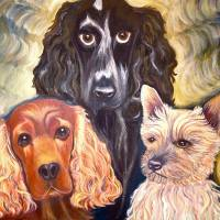 three dogs by Louise Dionne