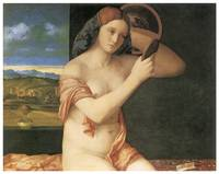 Woman Looking in a Mirror by Giovanni Bellini
