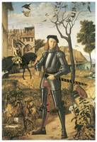 Young Knight in a Landscape by Vittore Carpaccio