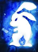 Blue Rabbit Flame Tail