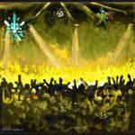 Disco Dance Ball - Yellow  by RD Riccoboni