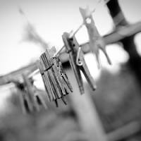 """""""Wooden Clothes Pins on Old Clothesline"""" by Amberwatsonwilliams"""