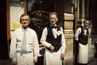 Waiters in Brussels, Belgium