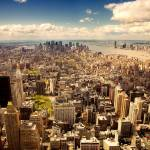 Arerial view of Manhattan Prints & Posters
