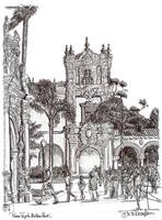 Field Trip to Balboa Park Drawing by RD Riccoboni