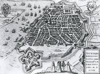 Map of Antwerp, 1598 (engraving)