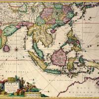 """General map extending from India and Ceylon"" by fineartmasters"