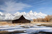 Iconic barn on Mormon row in Grand Teton National