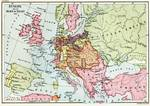 Map of Europe after the Pease of Tilsit in 1807 Posters