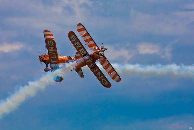 Breitling Biplanes At Airbourne, England