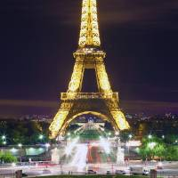 Eiffel Tower at Night Art Prints & Posters by David Mace-Kaff