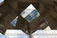 Abstract image Of A southbank London Building