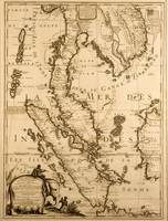 Map of South East Asia, 1687 (ink on paper)