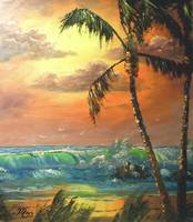 Tropical Wave Painting