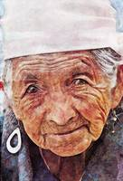 Portrait of old woman