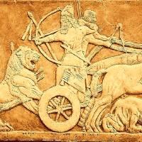 King Ashurbanipal Lion Hunting - Ancient Sculpture Art Prints & Posters by Tony Buro