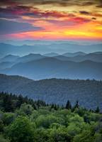 Blue Ridge Parkway Sunset - The Great Blue Yonder