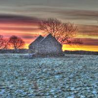 Barn with Sunrise Art Prints & Posters by Steve Wake