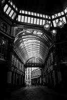 leadenhall market London Black and white