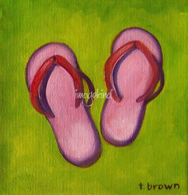 flip flops - pink flips